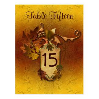 Número de asiento de la tabla del boda de la caída