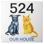 número de casa azulejo