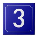 Número de casa francés azulejos