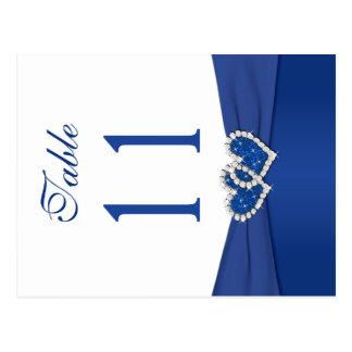 Número de doble cara de la tabla del azul real y postal