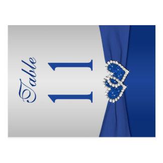 Número de doble cara de la tabla del azul real y postales
