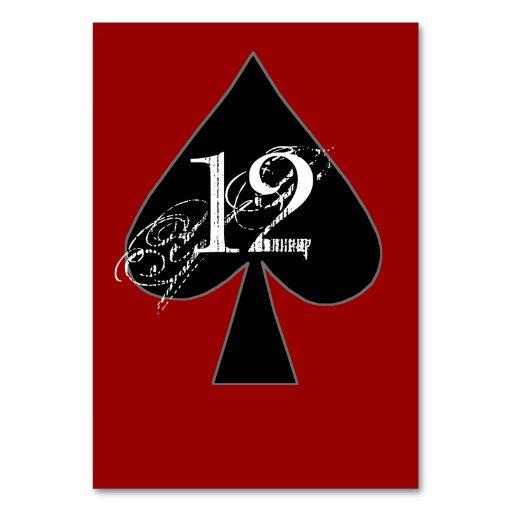 Número de encargo de la tabla de las espadas negra