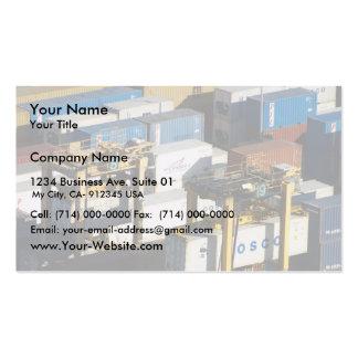 Número de envases en el puerto tarjetas de visita