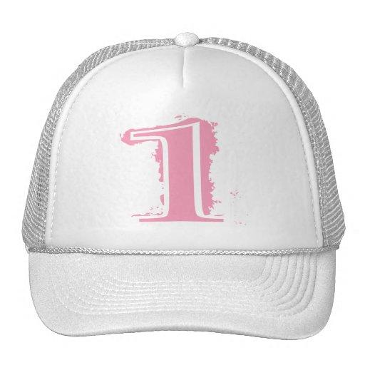 Número de estilo rosado 1 del Grunge Gorras
