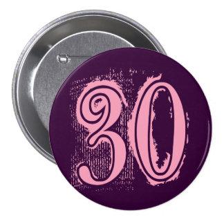 Número de estilo rosado 30 del Grunge Pin