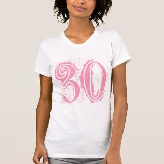 Número de estilo rosado 30 del Grunge Playera