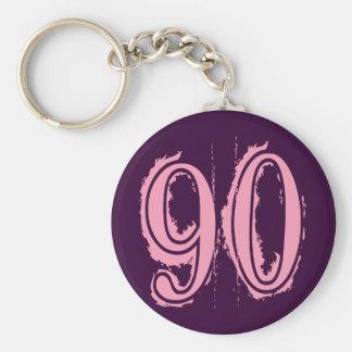 Número de estilo rosado 90 del Grunge Llaveros Personalizados