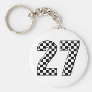 número de la bandera de 27 inspectores llavero redondo tipo pin