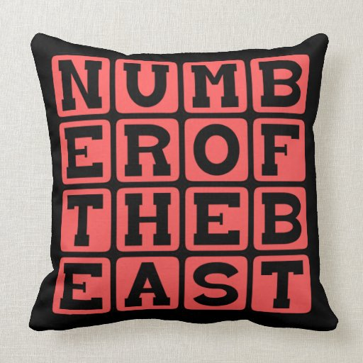 Número de la bestia, 666 almohada