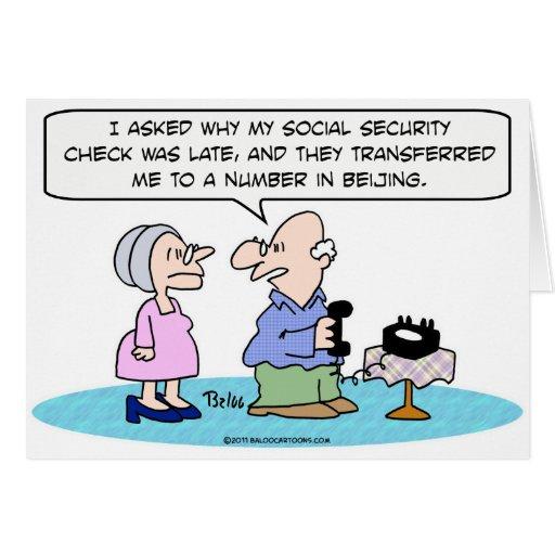 número de la Seguridad Social Pekín Tarjeta De Felicitación
