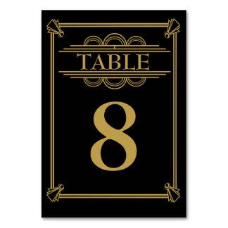 Número de la tabla de Gatsby del art déco de los