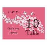 Número de la tabla de la flor de cerezo del rosa d