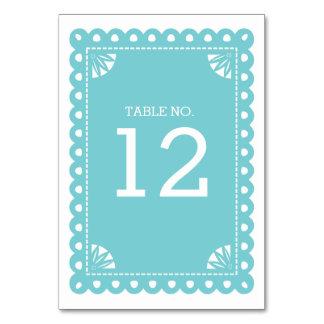 Número de la tabla de Papel Picado - azul
