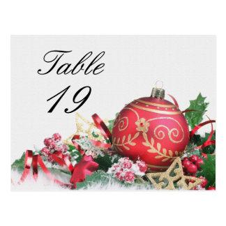 Número de la tabla del acontecimiento de la fiesta postales
