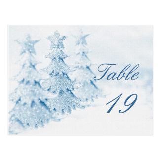 Número de la tabla del acontecimiento de la fiesta postal