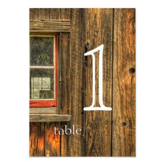 """Número de la tabla del aniversario de madera del invitación 5"""" x 7"""""""