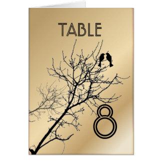 Número de la tabla del boda del árbol de los LoveB Tarjetas