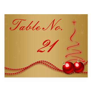 Número de la tabla del boda del invierno - de colo tarjeta postal