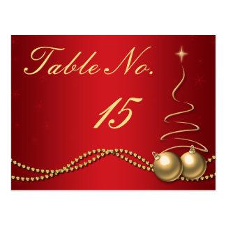 Número de la tabla del boda del invierno - de postal