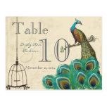 Número de la tabla del boda del pavo real