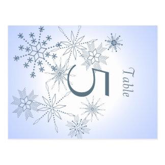 Número de la tabla del copo de nieve tarjeta postal