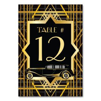 Número de la tabla del estilo de Gatsby de los año