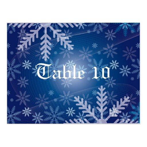 Número de la tabla del fiesta de Navidad Postal