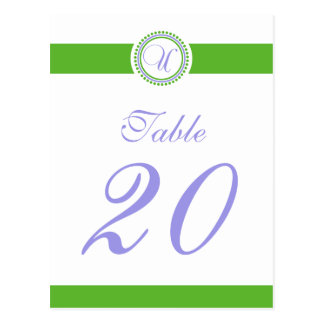 Número de la tabla del monograma del círculo del postal