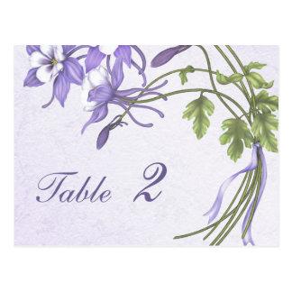 Número de la tabla del ramo de Columbine (postal) Tarjetas Postales