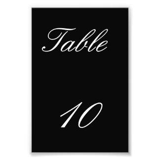 Número de la tabla arte fotografico
