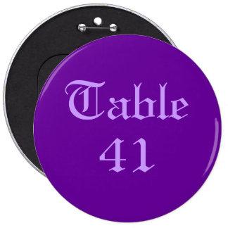 Número de la tabla pin