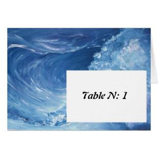 número de la tabla tarjeta pequeña