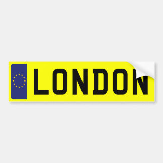 Número de matrícula de LONDRES Pegatina Para Auto