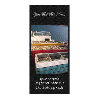 Número de ovejas en envases en la nave grande tarjeta publicitaria personalizada