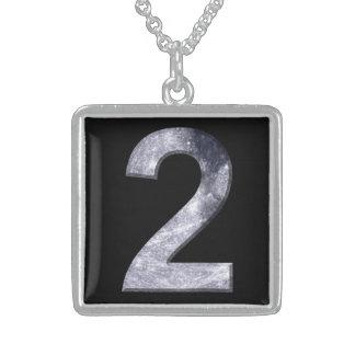 Número de poder lunar del Numerology del símbolo Colgante Cuadrado