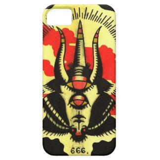 Número de teléfono negro de la cabra de la bestia iPhone 5 Case-Mate protector