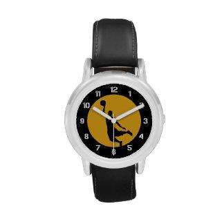 Número del logotipo del círculo del baloncesto del relojes de pulsera