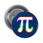 Número del pi - botón de la matemáticas pin