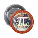 Número del pi en la tierra - botón de la matemátic pins
