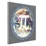 Número del pi en la tierra - lona de la matemática lienzo envuelto para galerias