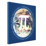 Número del pi en la tierra - lona de la matemática impresion de lienzo