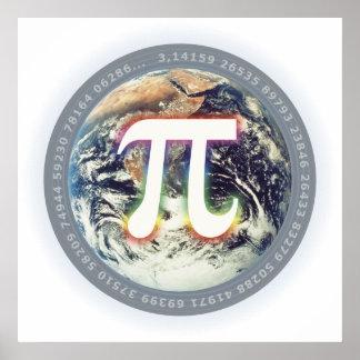 Número del pi en la tierra - poster de la póster
