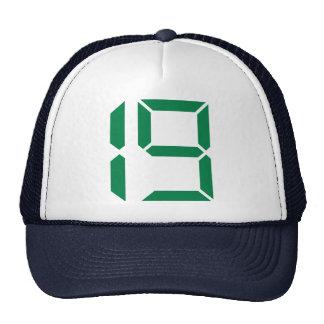 Número - diecinueve - 19 gorro de camionero