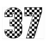 número el competir con auto 37 postal