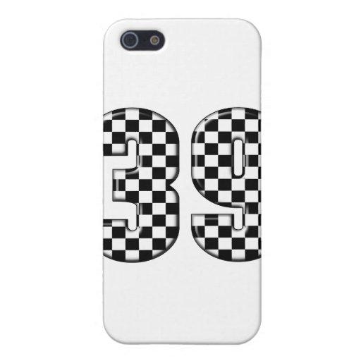 número el competir con auto 39 iPhone 5 carcasas