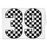 número el competir con auto 39 tarjetas