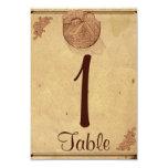 Número elegante de la tabla del boda del granero comunicados personalizados