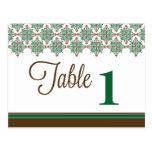 Número elegante Placecards de la tabla de la recep Postal