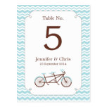 Número en tándem de la tabla de la bici (Chevron a Postales