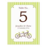 Número en tándem de la tabla de la bici (rayas ver postales